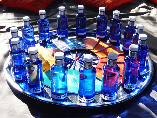 Ibiza-Blauwe flesjes kopieklein